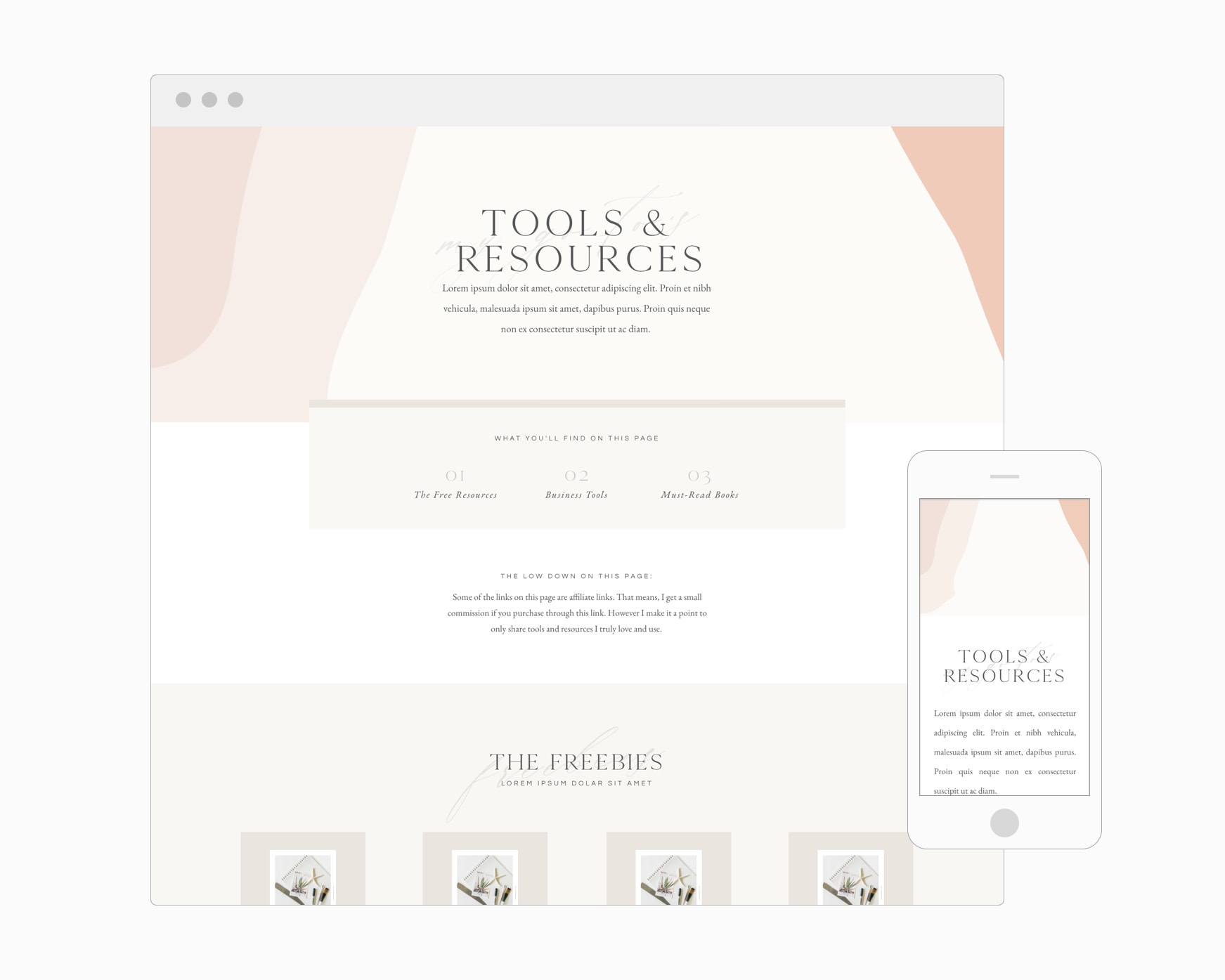 Tools & Resources Page (Showit)