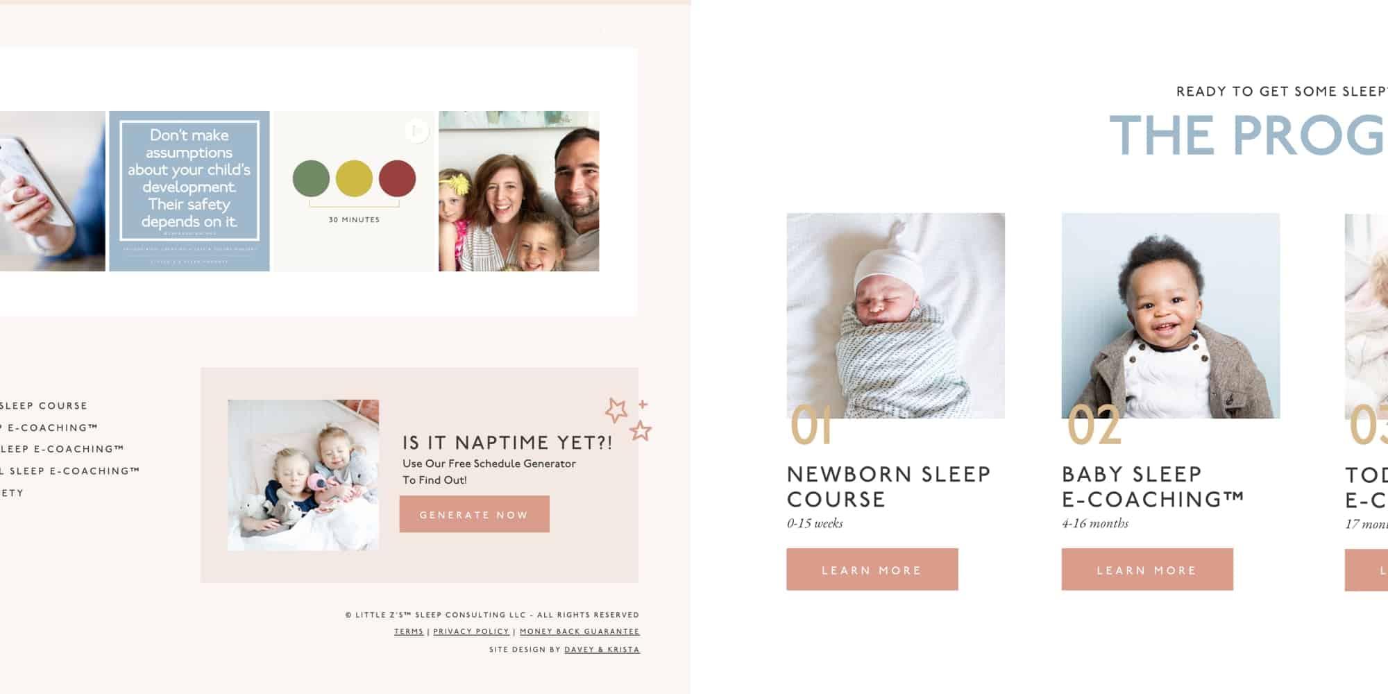 Online coach website design template for Showit | Davey & Krista