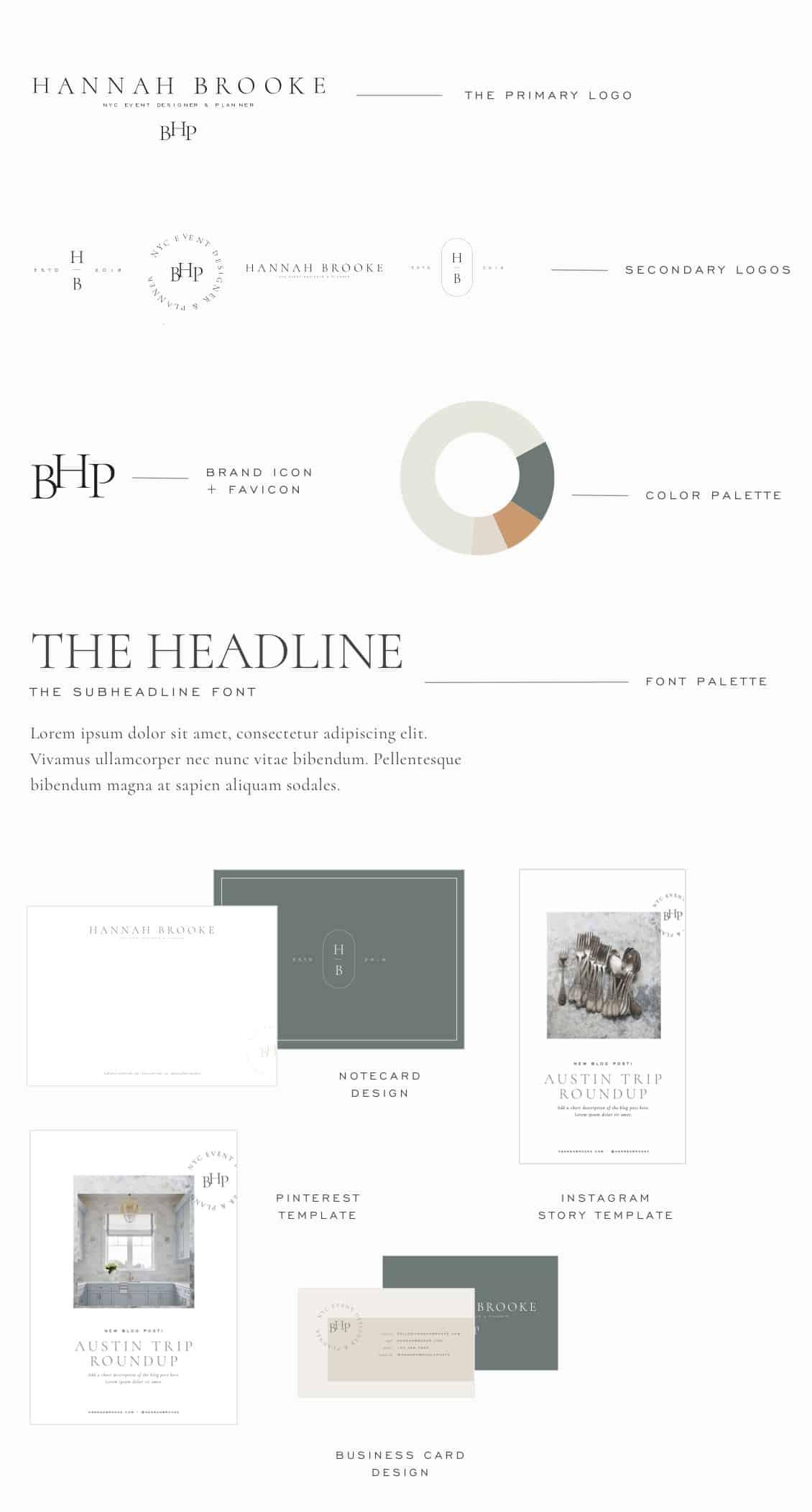 Semi custom brand design for photographers and small businesses   Davey & Krista