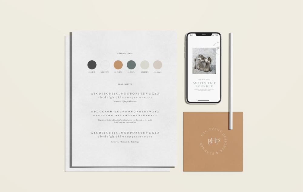 Modern but elegant brand template by Davey & Krista