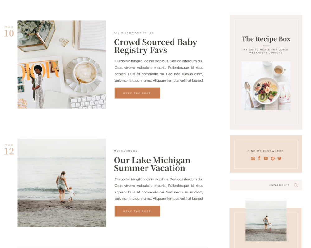 Website template for bloggers and content creators | Showit | by Davey & Krista