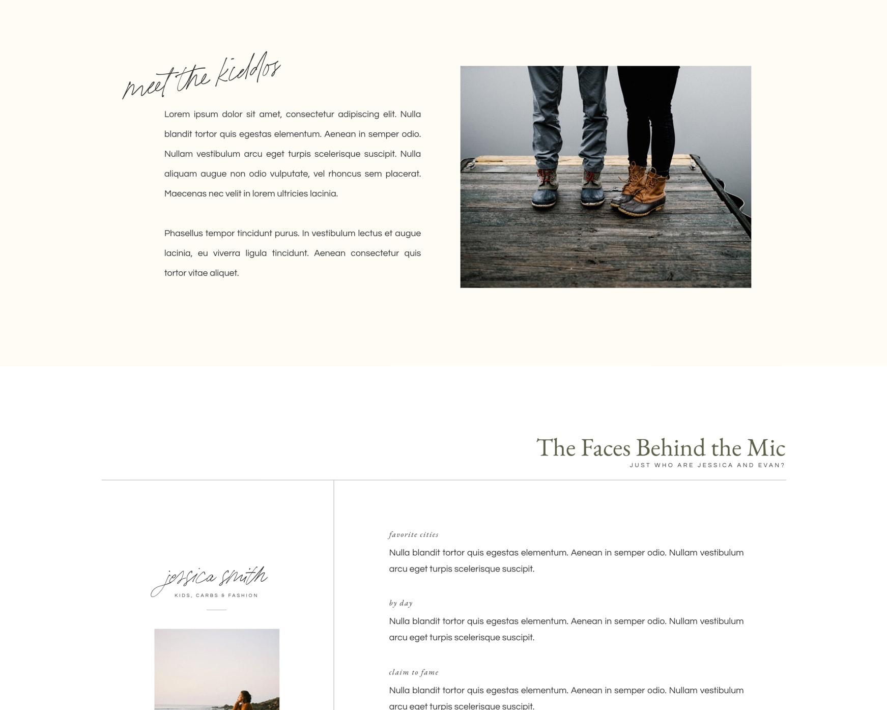 Stonefield Podcast Template (Showit)