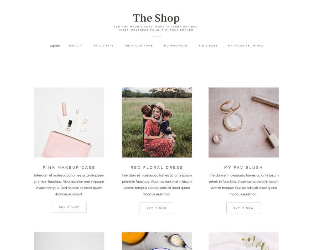 Website template for bloggers and content creators   Showit   by Davey & Krista