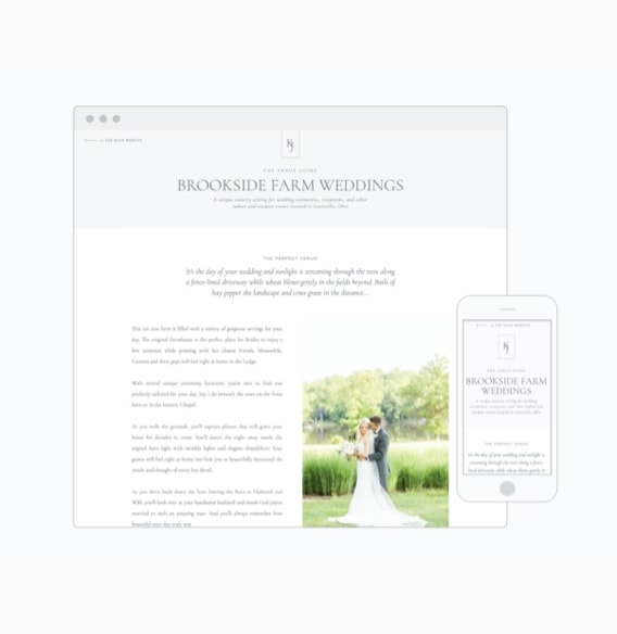 Wedding Guide page - resources for wedding photographers | Davey & Krista