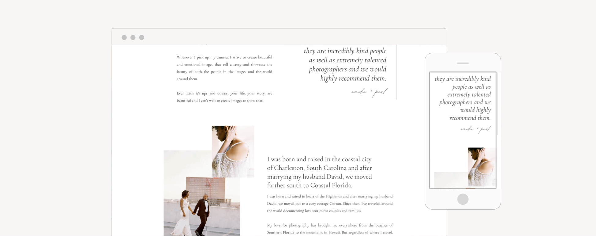 Drag and drop website templates for businesses