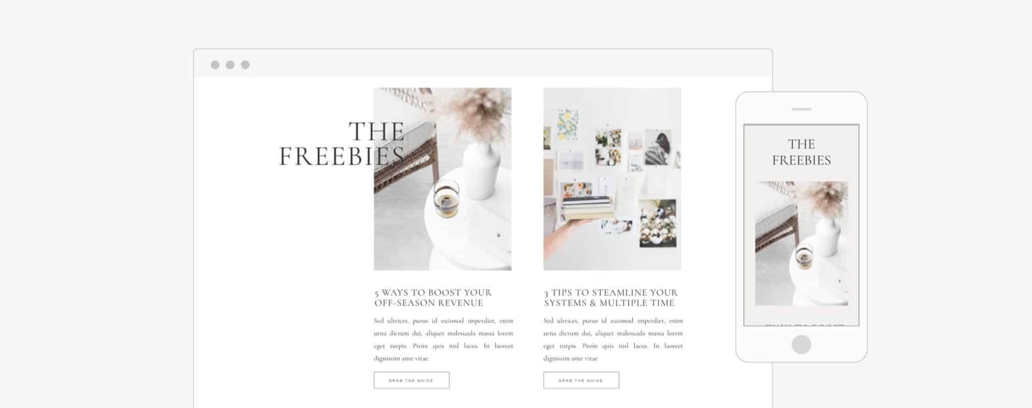 Showit Websites for wedding planners