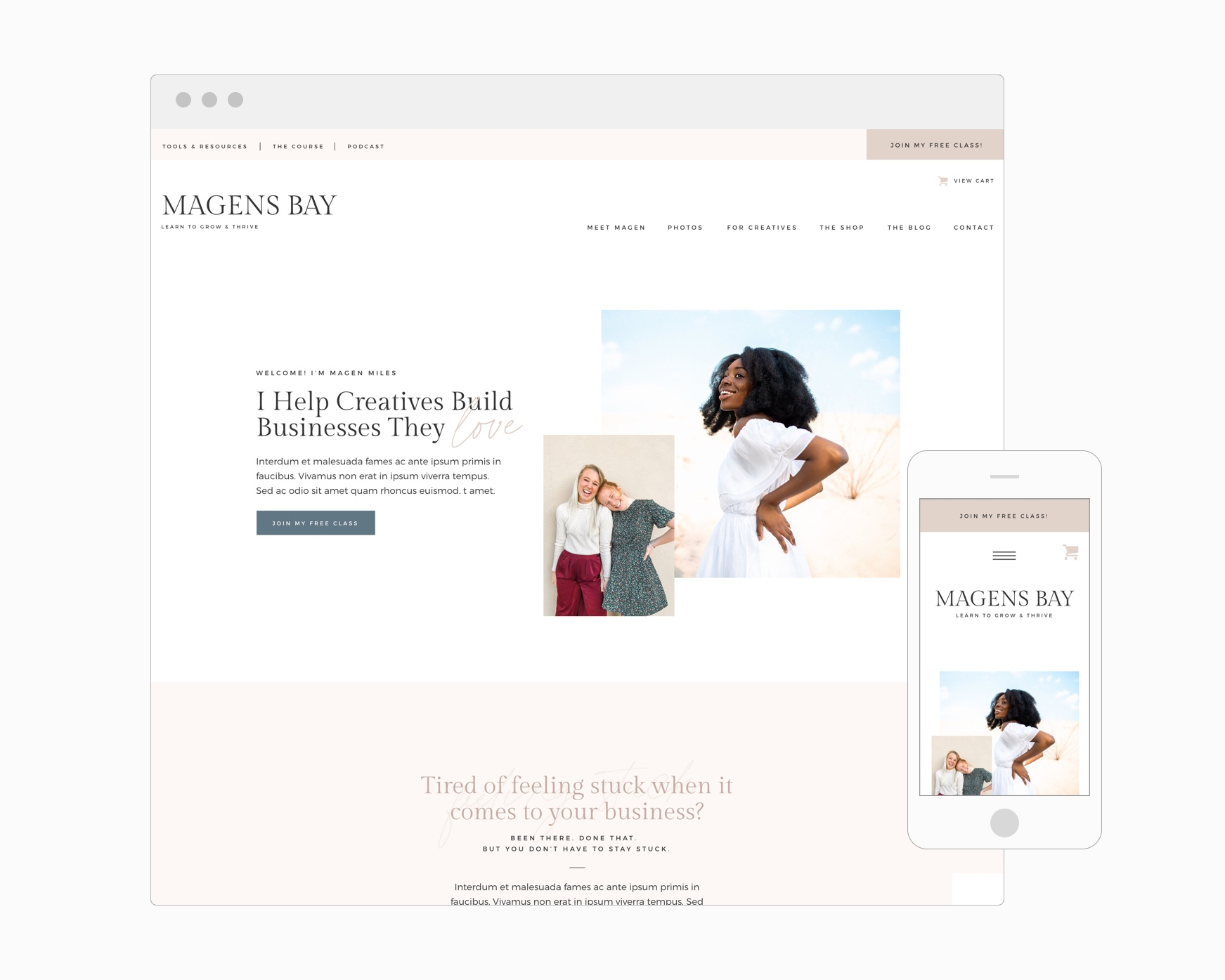 Magens Bay (Showit)