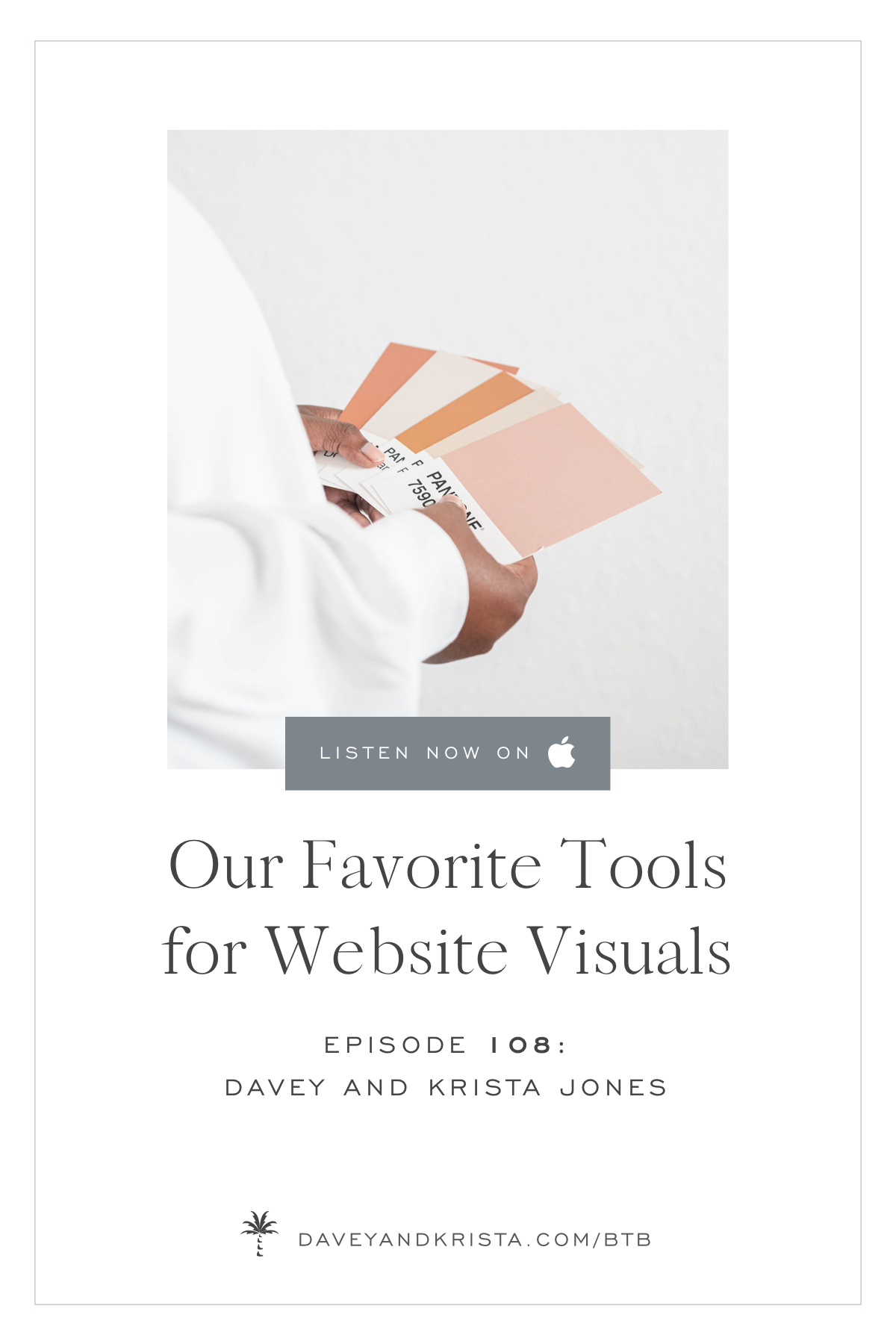 Our Favorite Tools for Website Visuals | Brands that Book podcast | Davey & Krista