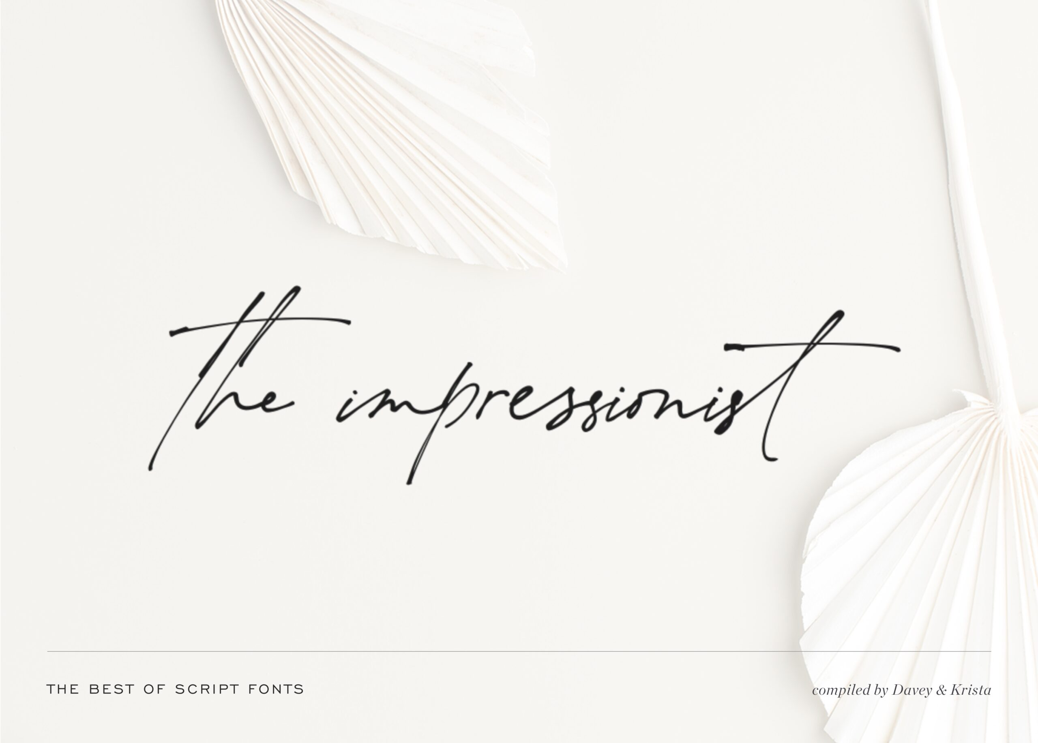 The Best Script fonts for websites & brands | Davey & Krista