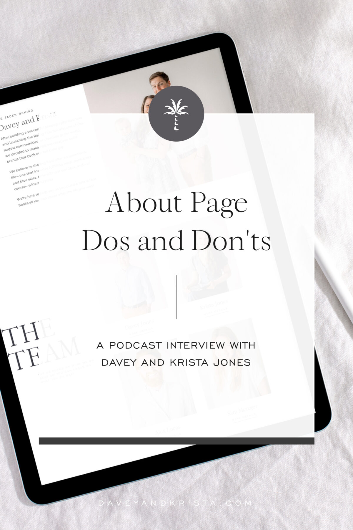 About Page Dos and Don'ts | Brands that Book podcast | Davey & Krista