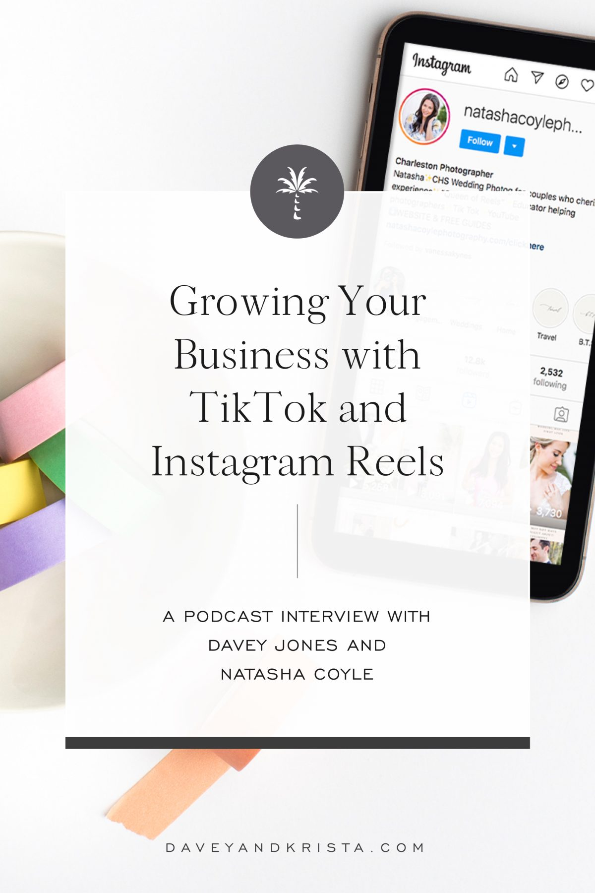 Growing Your Business with TikTok and Instagram Reels | Brands that Book podcast | Davey & Krista