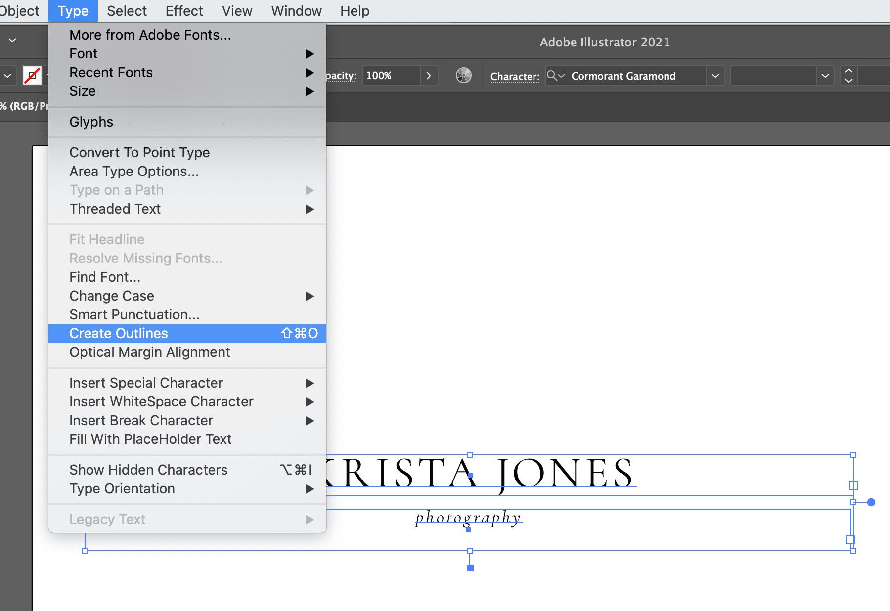 Creating a simple typographic logo in Adobe Illustrator