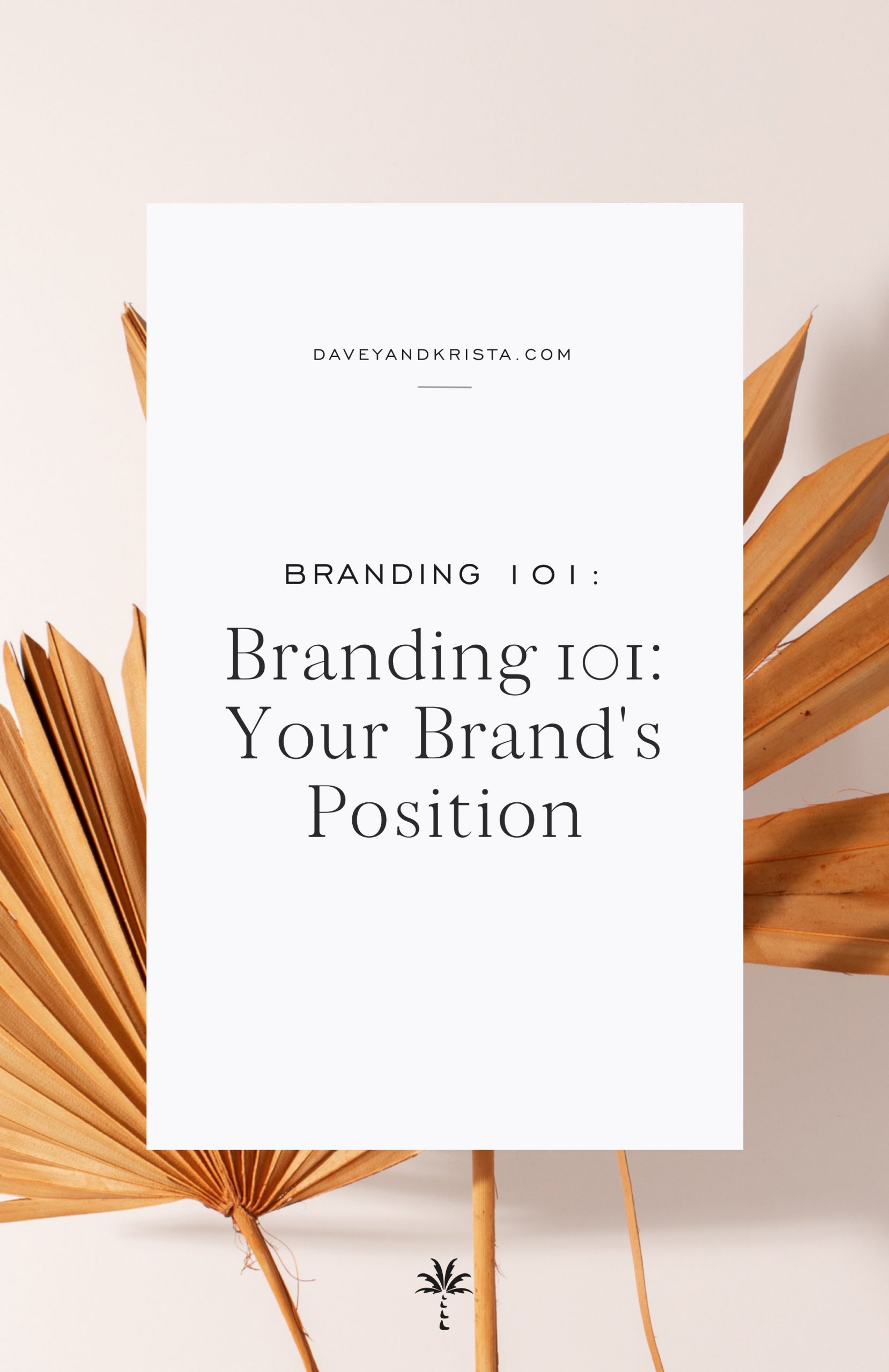 How to create a brand position statement & slogan